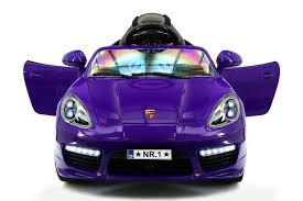 porsche purple kiddie roadster 12v kids electric ride on car with r c parental