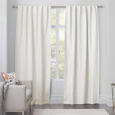 White Cotton Curtains Linen Cotton Curtain Ivory West Elm