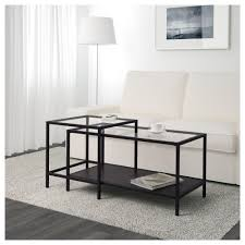 Coffee Tables Black Glass Ikea Glass Coffee Table Set Best Gallery Of Tables Furniture