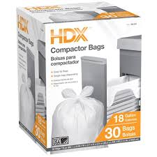 hdx 18 gal wave cut compactor bag 30 count hd18wc030w the