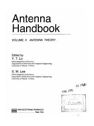 antenna handbook vol 2 theory 0442015933 electromagnetic