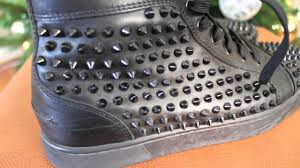 all black louboutin spiked sneakers youtube