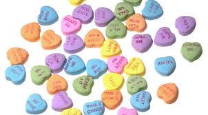 conversation heart sayings list of valentines day candy heart sweetheart flavors food