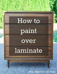 Painting Over Laminate Cabinets Best 25 Paint Laminate Cabinets Ideas On Pinterest How To Paint
