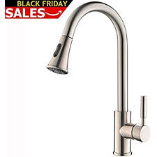 stainless steel faucets kitchen wewe single handle high arc brushed nickel pull out kitchen faucet