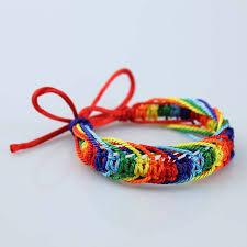friendship bracelet rainbow images Lgbt rainbow bracelet lesbian gay bisexual transgender friendship jpg