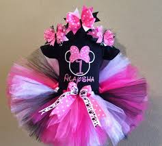 1st birthday tutu black hot pink minnie mouse 1st birthday tutu