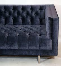 Diamond Tufted Sofa by Modern Tufted Velvet Sofa For Sale At 1stdibs