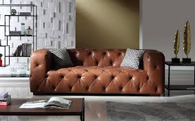 Tufted Brown Leather Sofa Ralph Modern Tufted Leather Sofa Sofamania