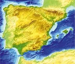Almeria Spain Map by Relief Map Spain Printable Vector Fully Editable Corel Draw