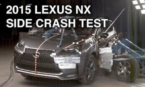 lexus nx vs mercedes c class 2015 lexus nx crash test side youtube
