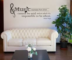 wall decals quotes music color the walls of your house wall decals quotes music vinyl wall decal sticker victor hugo music quote osdc524s