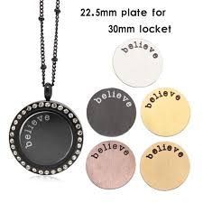 locket plates panpan 22 5mm large locket plate 316l stainless steel believe