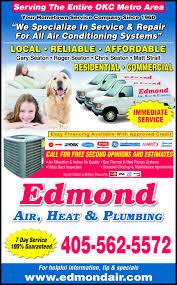 edmond air conditioning heating plumbing edmond ok 73013