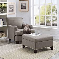 dorel home linen square ottoman with nailhead trim gray walmart com