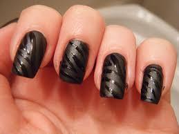 elegant white and black nail polish designs black nail polish