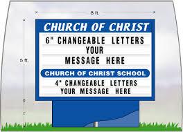 signagistics outdoor lighted church signs