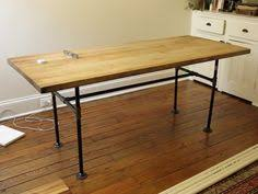 Steel Pipe Desk by Beautiful Industrial Table Made With Wood Planks And 2