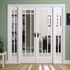 clear glass door w6 manhattan doors u0026 frame set with bevelled clear glass and white