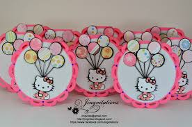 Hello Kitty Birthday Invitation Card Jingvitations Cuttlebug
