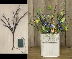 Led Branch Centerpieces by Lighted Willow Branches The Comforts Of Home