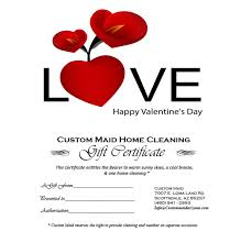 valentines specials s day gift certificate custom house cleaning of