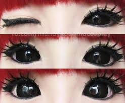 phantasee black sabretooth sclera lenses super pigmented