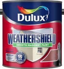 dulux weathershield smooth masonry paint brick red 5ltrs ebay