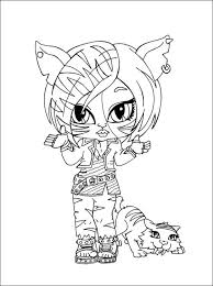 monster high chibi coloring pages monster high toralei coloring pages toralei stripe with sweet