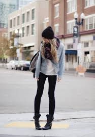 classy idea style with skinny jeans and combat boots