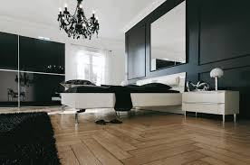 black and white bedroom designs plain red wall paint white wooden