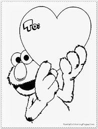 elmo valentines coloring pages disney realistic coloring pages
