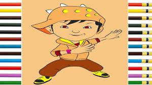 learn drawing coloring boboiboy galaxy angin ep 9 step step fun