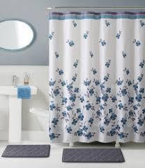 essential home 15 piece giana bath set blue