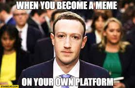 Your Meme - mark zuckerberg when you become a meme on your own platform