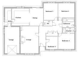 house plans with 4 bedrooms simple 4 bedroom house plans small 4 bedroom house plans