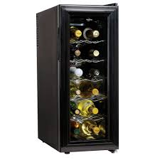 compact wine cellar cuisinart dual zone wine cooler crate and