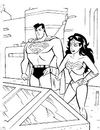 superman woman coloring pages free free