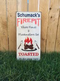 free shipping personalized fire pit sign primitive firepit