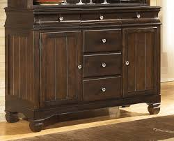 ashley d480 80 hayley dark brown finish dining storage buffet server