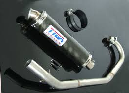 set pipe full race system round carbon silencer cbr125 tyga