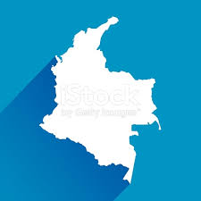 colombia map vector blue colombia map icon stock vector 524152181 istock
