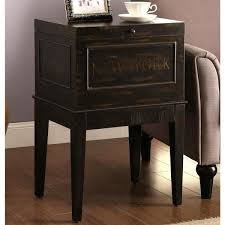 Antique Accent Table New York Rome Antique Distressed Black Storage Accent