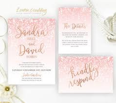 pink and gold wedding invitations pink wedding invitations lemonwedding