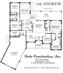 House Plans With Extra Large Garages Floor Plans Andrew 3 Bedroom 3 Bath 3 Car Garage Family Room