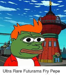 ultra rare futurama fry pepe futurama fry meme on me me
