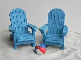 Miniature Adirondack Chair Miniature Adirondack Chair Fairy Beach Garden Supply Blue