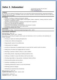 Sample Resume For Lab Technician by Mechanic Resume Template Automotive Service Technician Resume