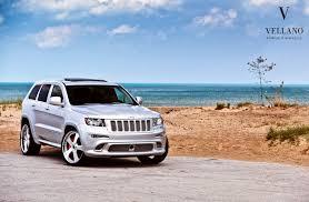 blue jeep grand cherokee srt8 jeep grand cherokee srt8 grey vellano wheels tuning cars wallpaper