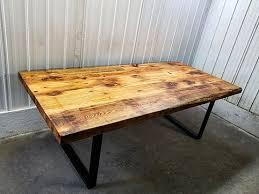 table cuisine bois brut tables bars comptoirs et îlots granby rustik meubles design